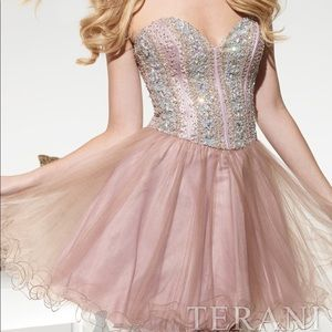 Terani Couture Beaded Tulle Dress